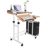 Multi Function Laptop Desk Stable Height Adjustable With Wheels Mobile Portable Laptop Computer Standing Desk For