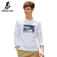 Pioneer Camp New Arrival Autumn Men T Shirt Brand Clothing Fashion Printed T Shirt Male Top