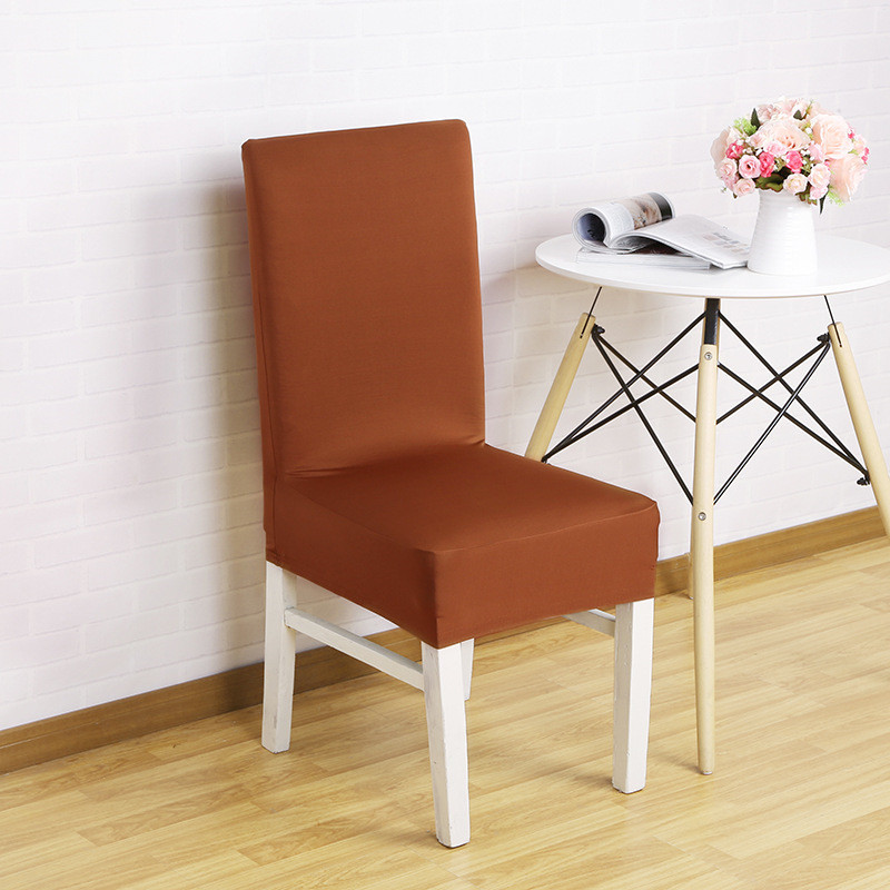 Cool Us 9 38 45 Off 1Pc Elastic Dining Chair Covers With Back Polyester Solid Red Seat Covers For Universal Chairs Banquet Party Wedding Chair Cover In Creativecarmelina Interior Chair Design Creativecarmelinacom