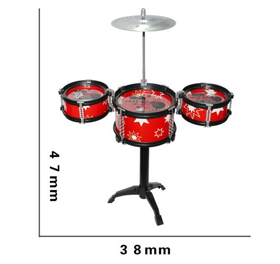 Wholesale 3PCS Children Kids Educational Toy Rock Drums Simulation Musical Instruments free shipping