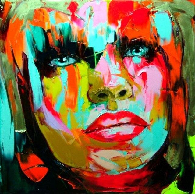 Handgemalte menschlichen bunte portr tmalerei hochwertige - Moderne wandbilder auf leinwand ...