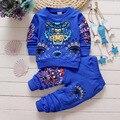 Venda de varejo! Na Primavera De 2016 O Outono Novos Conjuntos de Roupas Menino Meninas das Crianças Two-piece suit set free selos