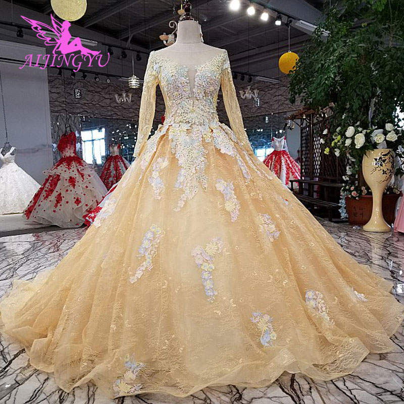 AIJINGYU Wedding Grown Imported Gowns Shiny South Africa Train Bridal Designers Online Top Gown Wedding Guest Dresses