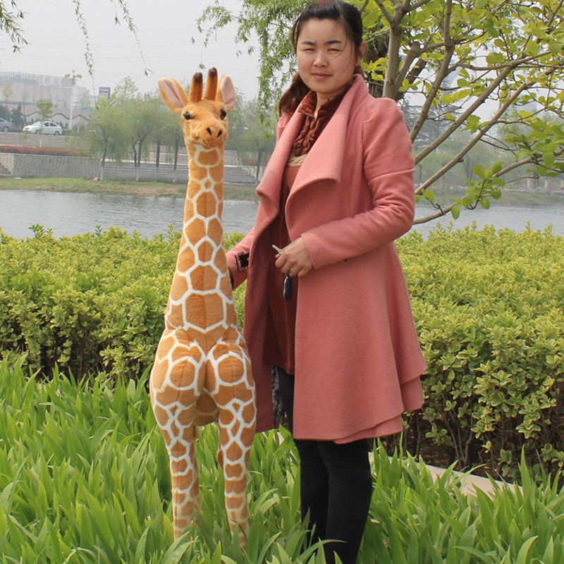 simulation animal larggest size 140cm giraffe plush toy home decoration, party activity birthday gift b4888 giraffe animal series many chew toy pet
