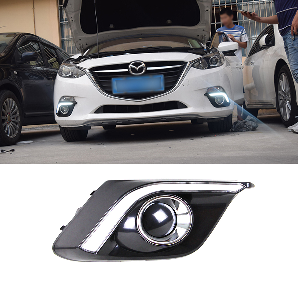 Hot sale! Led drl for  Santa Fe 2010 2011 2012 Santafe Daytime Running Light fog lamp cover driving light car styling acc
