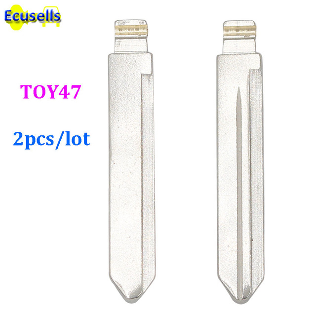 2 unids/lote Toy47 juguete 47 sin cortar hoja clave para Toyota Corolla