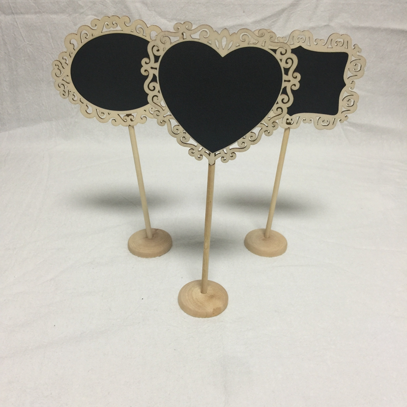 10pcs mini chalkboard signs wood chalkboard wedding place cards message board sign in Party Direction Signs from Home Garden