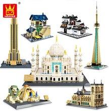 Wange 5210 série darchitecture les blocs de construction modèles notre dame de Paris mis classique repère éducation jouets pour enfants