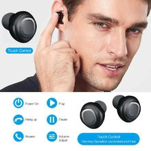 DSstyles Wireless Headphone Bluetooth Waterproof Earphone Headset with Mic Charging Box Earbuds Free Shipping factory price binmer wireless clip retractable bluetooth 4 1 earphone headphone headset for cellphone high quality free shipping