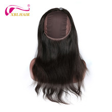 XBL Hair 360 Lace Frontal with Wig Cap Straight Peruvian Human Hair 100 Human Hair Remy