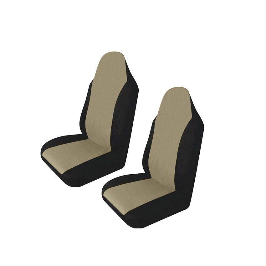 Universal Car Seat Covers Set 2 Pieces Black Grey Washable Airbag Compatible Polyester Material Car Cases Car Accessories in Automobiles Seat Covers from Automobiles Motorcycles