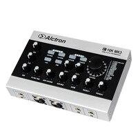 Barato Interfaz de grabación de Audio USB tarjeta de sonido USB externa amplificador de micrófono con Cable