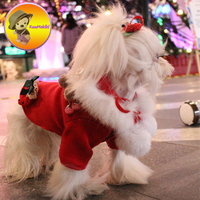 Hand Made Christmas Style Warm Winter Dog Parka Clothing Puppy Clothes Vestidos Maltese Yorkshire Pet Dogs