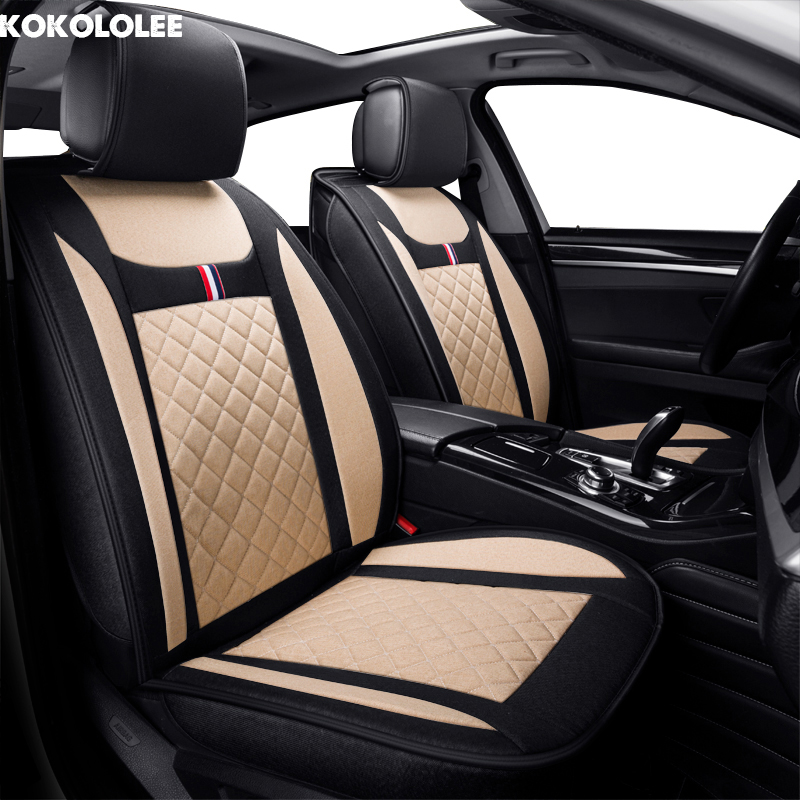 KOKOLOLEE flax car seat covers For Ford mondeo Focus 2 3 kuga Fiesta Edge Explorer fiesta fusion auto accessories car-styling цена