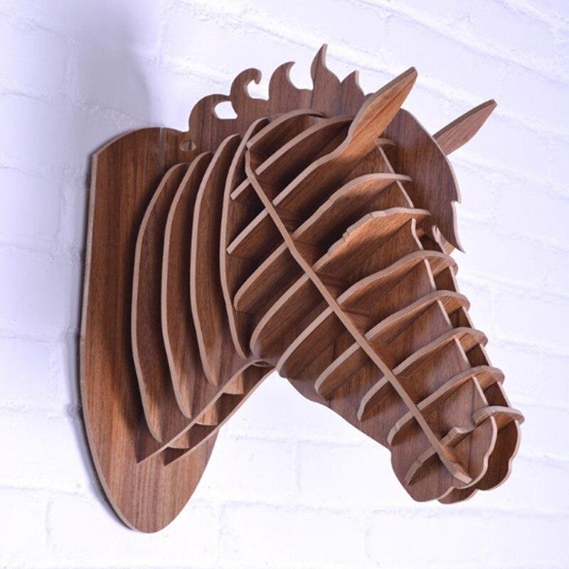 Рисунок коня, ручная работа, голова животного, украшение дома, новизны, поделки, работа, резьба по стене, произведение искусства, Скандинавское украшение дома