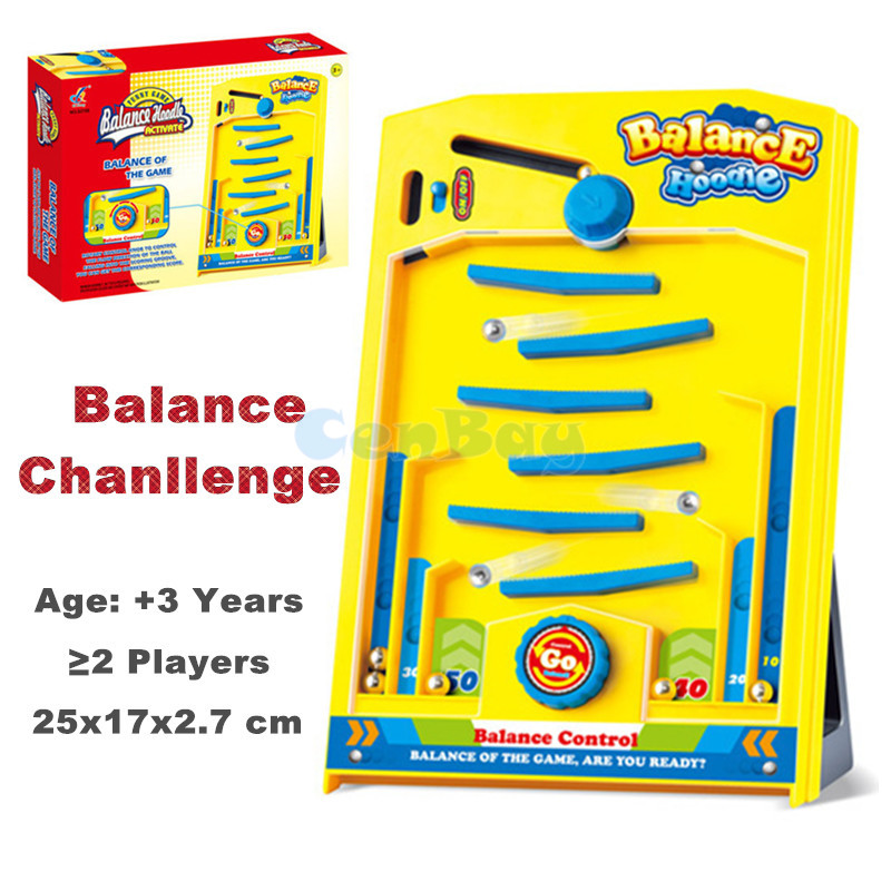 Funny Magic Maze Marble Ball Falling Battle Indoor Balance Game Ball Hand Eye Coordination Training Toys for Kids Birthday Gifts