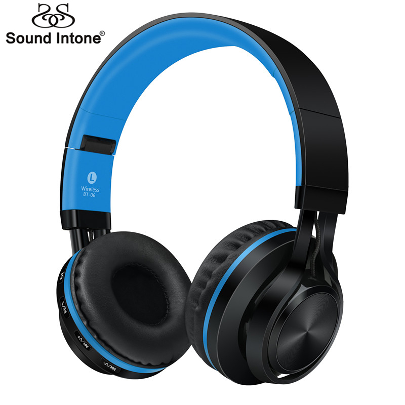 Sound Intone Stereo Headsets Universal Wireless Bluetooth Headphones with Mic Support TF Card FM Radio for