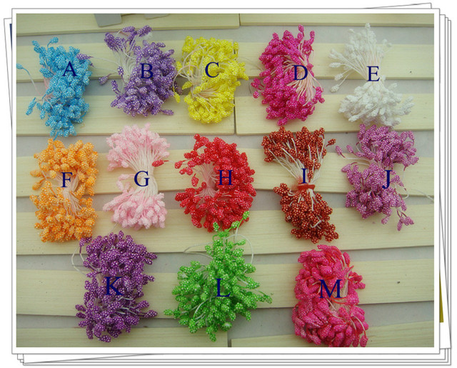 Free Shipping Double Tips 13 Colors Foam Flower Stamen Diy Accessories Stocking Material 1800 Pieces Lot