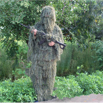 Woodland Camouflage Suit Hunting Ghillie Suit camouflage mesh hunting clothing army uniform sniper suit camouflage suit фото