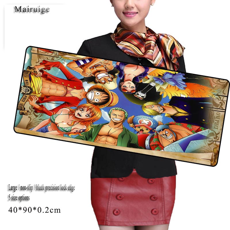 Mairuige One Piece Free Shipping Large Game Mouse Pad 900*400 High Quality with Edge Locking Speed Version Game Keyboard Pad