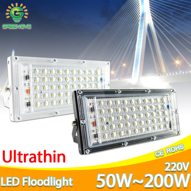 LED Flood Light 10W 50W perfect power Floodlight LED street Lamp 220V 240V waterproof Landscape Lighting IP65 led spotlight