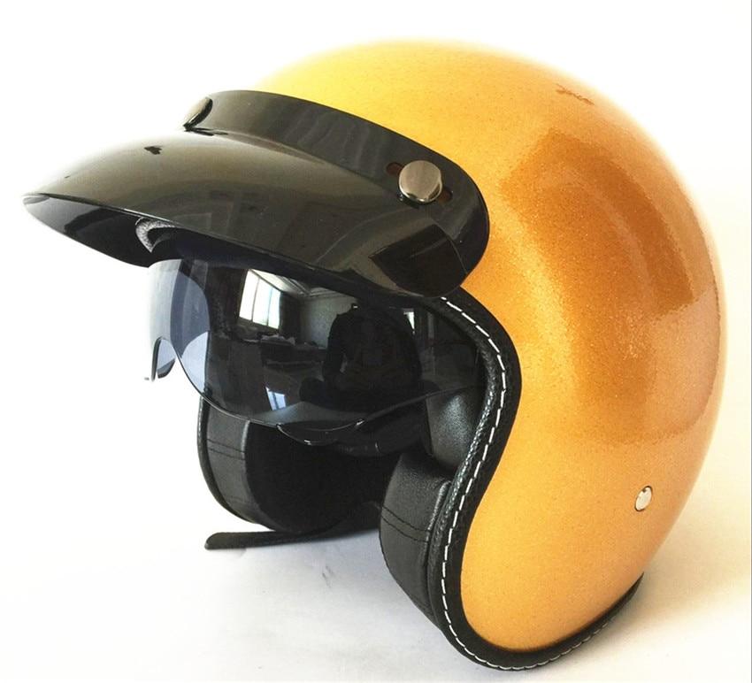 Retro Chopper WANLI Brands Motorcycle Helmet Harley 3/4 Open Face Vintage Helmet Moto Casque Casco Motocicleta Capacete Helmets