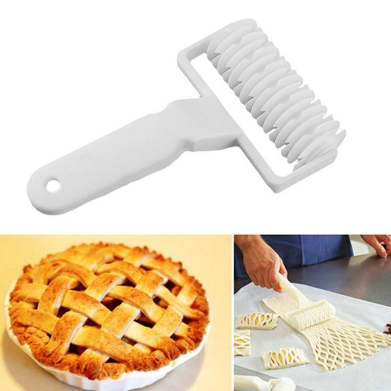 Dough Lattice Cutter Plastic Cookie Pie Pizza Bread Pastry Crust Roller Tool Hot