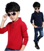 Cc95 2015 детская одежда мальчиков высокий воротник свитер корейской версии приток большой мальчик ребенок