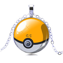 Pokeball Chain Necklace Vintage Style