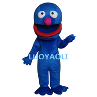 Sesame Street Blue Cookie Monster Mascot Costume Fancy Dress Adult Party Carnival Halloween Christmas Mascot