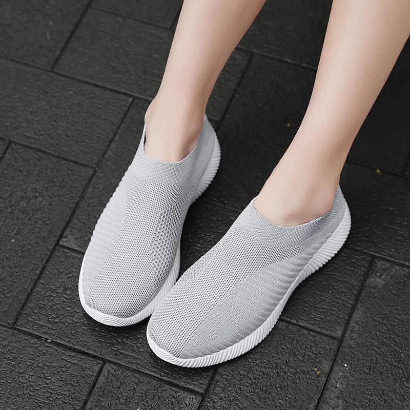 Розовые женские кроссовки, обувь для бега для женщин, дышащая Вулканизированная обувь, носки, кроссовки, женская обувь для бега 2019