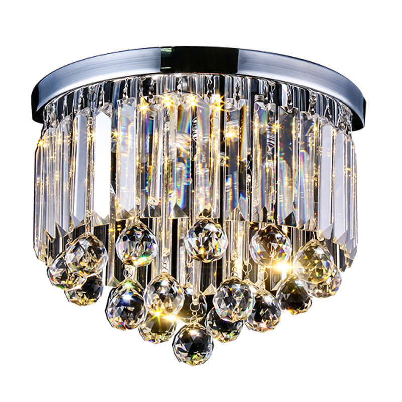 Modern Rectangle Round K9 crystal ceiling lamp LED lamp light crystal ceiling light lustre 3 change colors 90-260V ceiling lamp