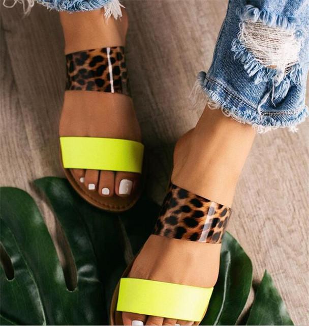 Women shoes summer fashion crystal Comfort flat shoes ladies open toe outdoor light slip on Beach shoe casual woman slipper Z371
