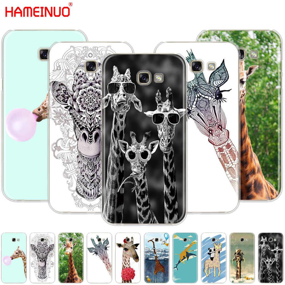 HAMEINUO الزرافات لطيف الحيوان خلية غطاء إطار هاتف محمول لسامسونج غالاكسي A3 A310 A5 A510 A7 A8 A9 2016 2017