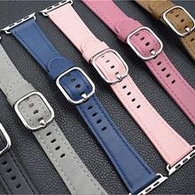 Cuero Genuino más nuevo Girasol Clásico Hebilla venda de reloj correas de reloj correas de reloj serie 1 2 iwatch manzana