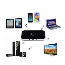 2 en 1 Bluetooth Audio Récepteur Émetteur APTX Transmission Sans Perte 3.5 MM AUX Stéréo Musique Adaptateur Pour Haut-Parleur TV De Voiture Pad