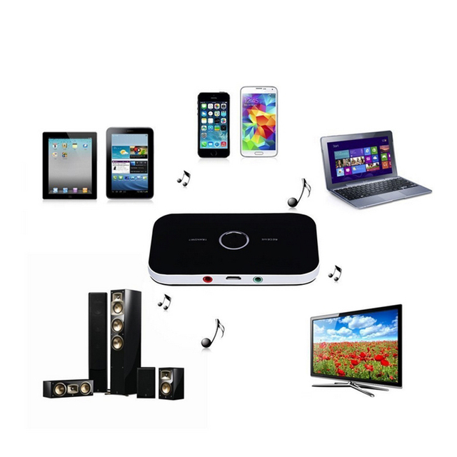 2 in 1 Bluetooth Audio Receiver Transmitter APTX Lossless Transmission 3.5MM AUX Stereo Music Adapter For Speaker TV Car Pad
