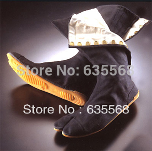 Top Quality Ninja Shoes Samurai Sko Tabi Rikio Fighter Sort Jikatabi Tabis Ninja Weapon Made In Japan Gratis forsendelse