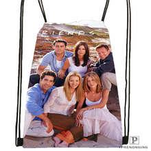 Custom friends Drawstring Backpack Bag Cute Daypack Kids Satchel (Black Back) 31x40cm#2018611-1(7)