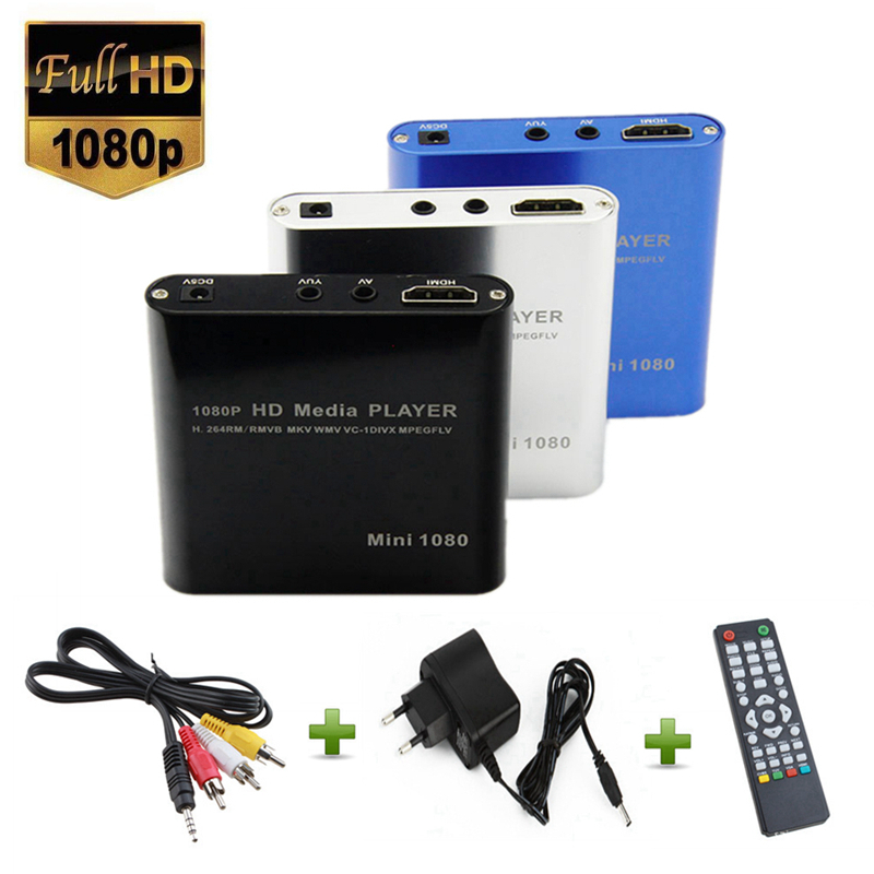 UE Plug Full HD 1080 p Portable USB Externe Mini HDD Player avec SD SDHC MMC Lecteur de Carte Host RMVB MKV WMV HDMI Media Player