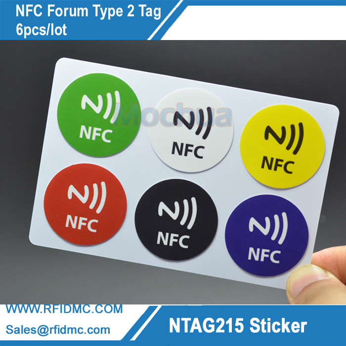 6pcs NTAG215 Label NFC NTAG215 Sticker Tag For Tagmo with color printing