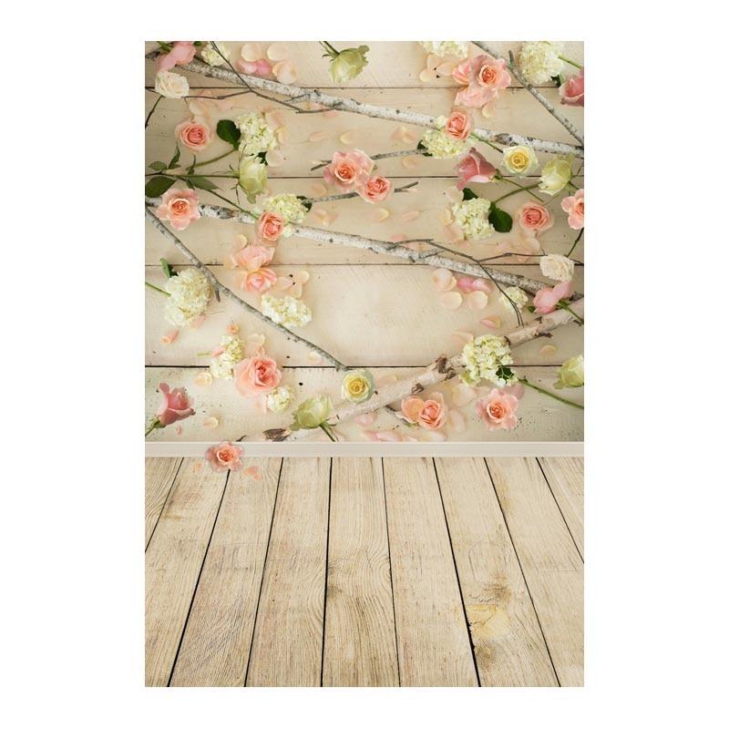 Fotografie pozadí romantické květina cihla dřevěné svatební novorozeně fotografie pozadí pro fotografické studio CM-6698