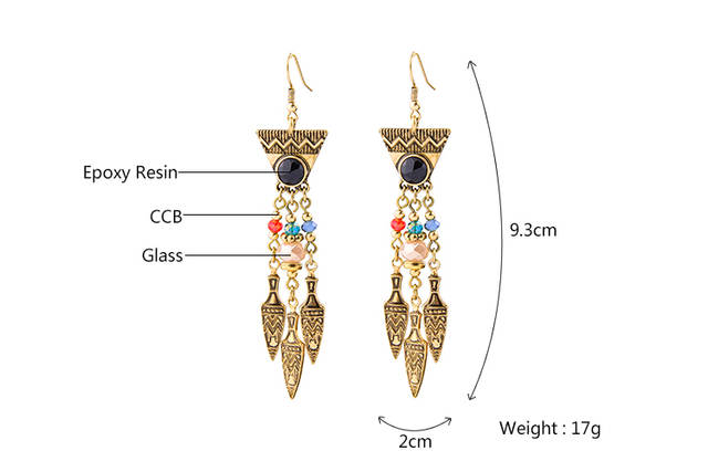 a651975fb5b Statement Vintage Earring for Women High Quality Fashion Costume Jewelry  Egyptian Style Long Earring Pendant