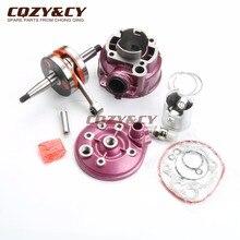 90cc grande furo cilindro kit & tampa do cilindro de alta qualidade e eixo de pedaleira para minarelli motorhispania furia 50 rx50 ryz 50 am6 2t