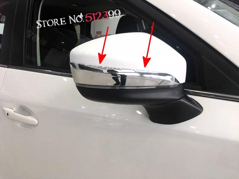 2 ABS Chrome font b Car b font Rearview font b Mirror b font Upper Stripe