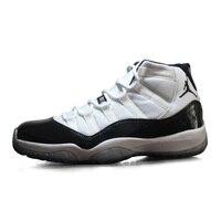 Original Jordan Retro 11 Concord blanco Hombre Negro Zapatos de Baloncesto de Los Hombres Respirables Zapatillas Deportivas 378037-107