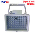 Caja de Metal Al Aire Libre Impermeable de Vigilancia de 30 Grados 54 unids Relleno IR de La Visión Nocturna Led Infrarrojo iluminador Lámpara Envío Gratis