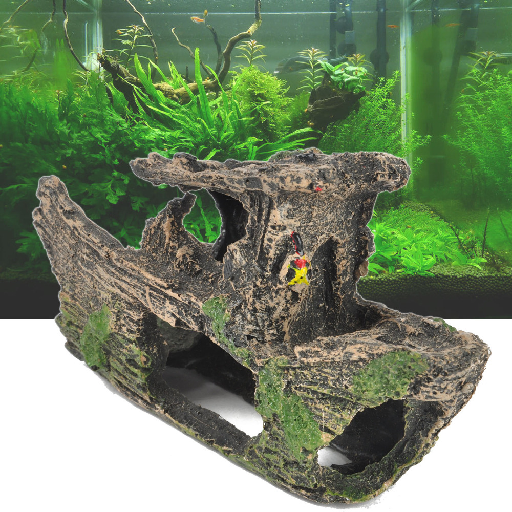 Fish in new aquarium - New Aquarium Fish Tank Ornament Rockery Hiding Cave Landscape Underwater Decoration China Mainland