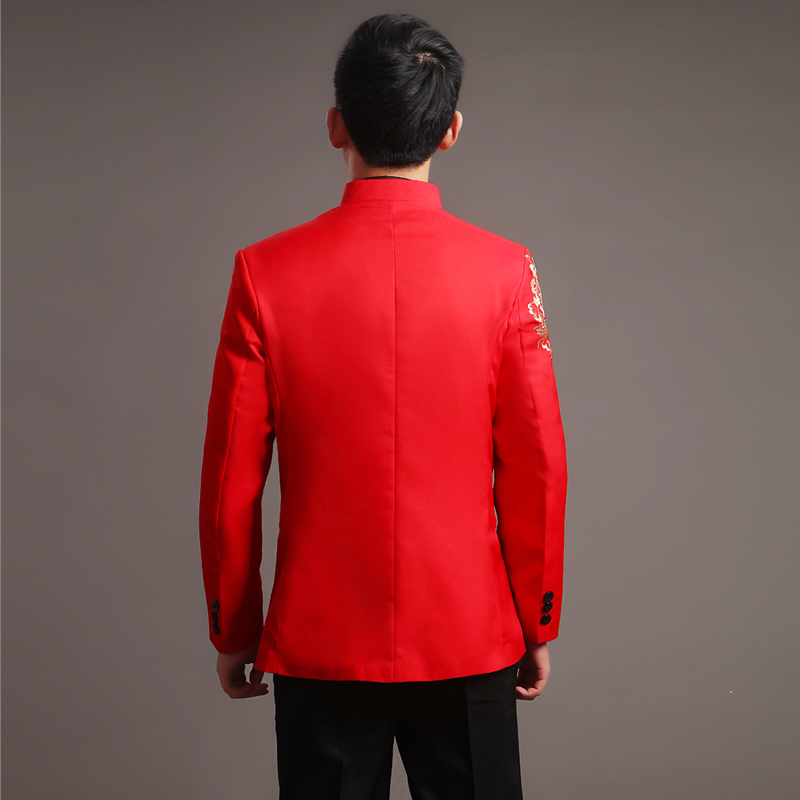 768bf50ff6c Modern Cheongsam Top Vestido Oriental Traditional Groom Qipao Red  Embroidery Chinese Clothes Men Tunic Suit Traditionnel Chinois-in  Cheongsams from Novelty ...