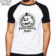 LYTLM Moda Hombre 2018 Streetwear cinco noches en Freddy camisa Anime T  camisa de los hombres de algodón de calidad FNAF camiset. 669e098e32a